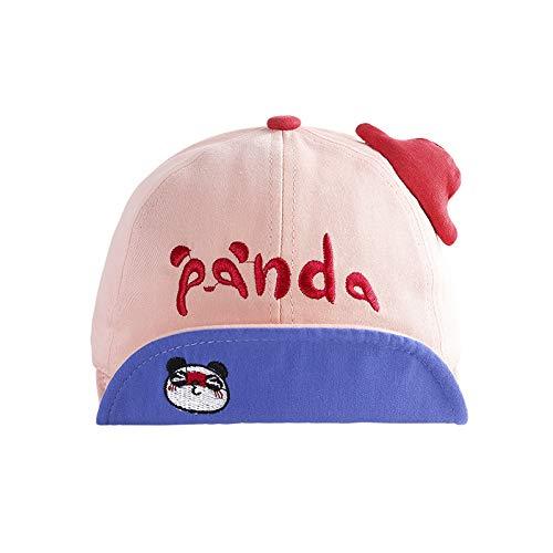 wopiaol Kindermützen Frühling Neue Baumwollstickerei Wild Panda weiche Krempe Baby Hut Sonnenschirm Kinderhut