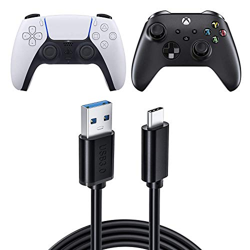PS5 Controller Ladekabel Schnell-ladekabel für Xbox Series X/S Controller 1M, Ancable Typ C Ladekabel für PS5 Controller Xbox Series X/S Controller Nintendo Switch Switchlite Switch Pro Controller