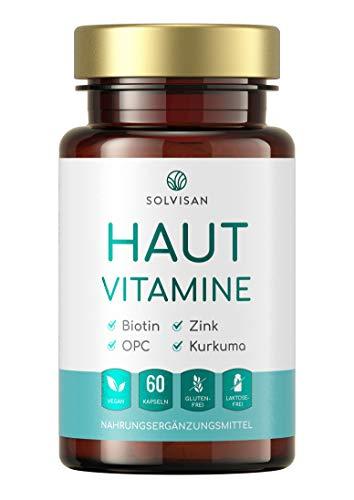 SOLVISAN HAUT VITAMINE mit Zink, Selen, Biotin, Silizium, OPC - 60 Hautkapseln