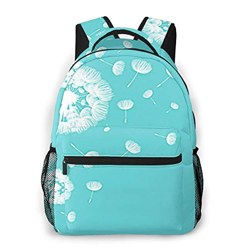 Laptop Rucksack Schulrucksack Luft flaumige Löwenzahn Blume, 14 Zoll Reise Daypack Wasserdicht für Arbeit Business Schule Männer Frauen
