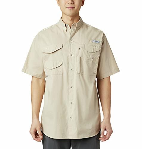 Columbia Men's Standard Bonehead Short Sleeve Shirt, Fossil, X-Large