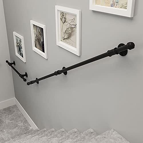 Handrail for Stairs Pasos al Aire Libre Interior, 80cm 90cm 100cm 120cm 150cm 180cm 200cm 250cm 300cm  Riel de Agarre al Aire Libre, escaleras de barandilla Exterior Montaje de Pared (Size : 540cm)