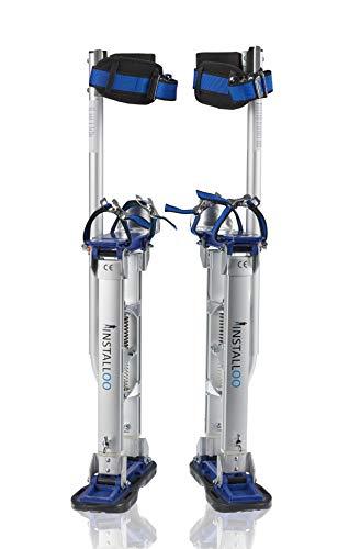 Installoo® Zancos de trabajo • para yeseros albañiles o para pintar • de aluminio • ajustables L • Profi-Line