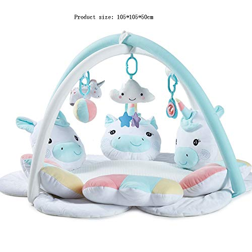 Best Price SAIDISH Unicorn Baby Music Game Blanket Fitness Frame Baby Crawling Game Pad 3D Breathabl...