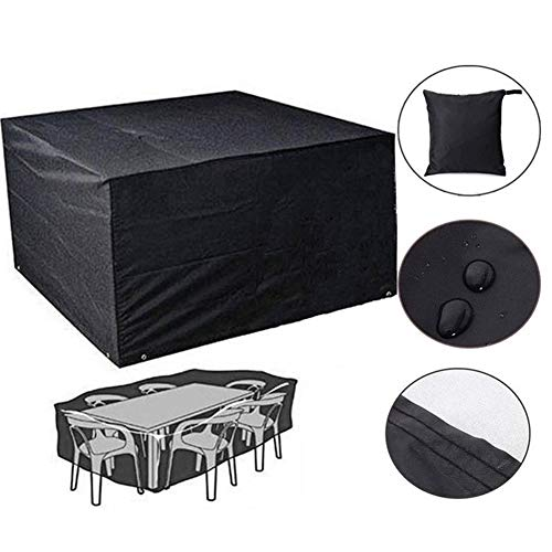 HNXCBH Outdoor Garden BBQ Furniture Cover Waterproof Oxford Wicker Sofa Protection Set Garden Patio Rain Snow Wind Dustproof Black Outdoor Table Cover (Size : 190x71x117cm)