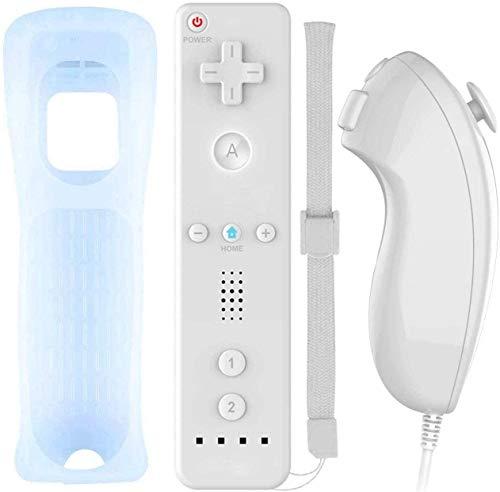 Acexy Controller Remote für Wii, Wireless Game Remote Controller mit Silikonhülle und Armband für Nintendo Wii und Wii U