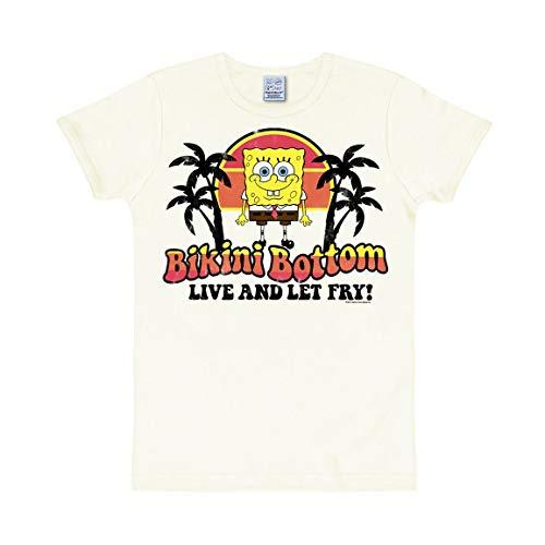 Logoshirt Unisex T-Shirt Slim fit Spongebob - Bikini Bottom weiß S