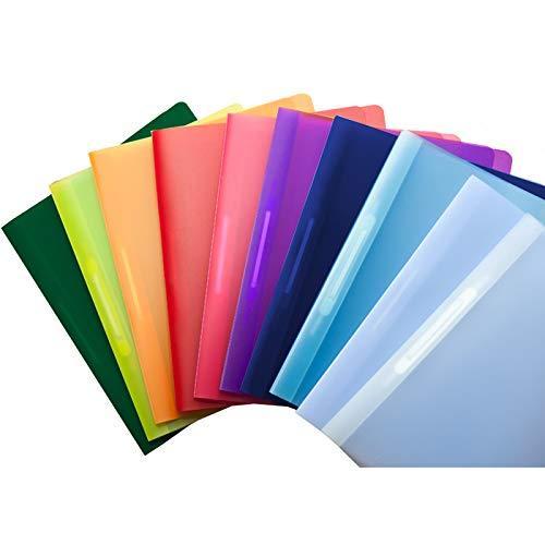 Sortiment Schnellhefter, 10 Stück in 8+2 verschiedenen Farben