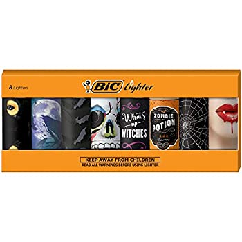 BIC Special Edition Spooky Series Lighters Set of 8 Lighters