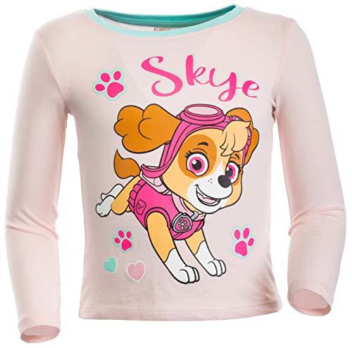 Brandsseller Mädchen Langarmshirt T-Shirt mit Motiven im Stil von Paw Patrol 100% Baumwolle 110/116 Rosa