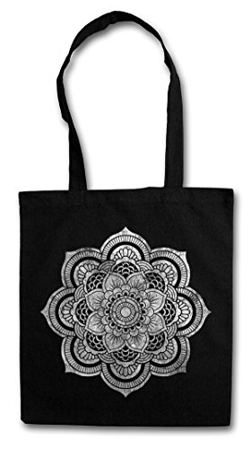 Urban Backwoods Flower Mandala II Hipster Bag Beutel Stofftasche Einkaufstasche