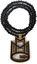 Hip Hop Jewels Large Wooden Rick Ross MMG Wood Pendant & Chain Two-Toned