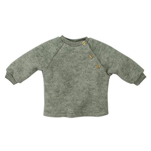 Engel Baby-Pulli, Farbe: Hellgrau melange - 62/68 Wollfleece 100% Schurwolle