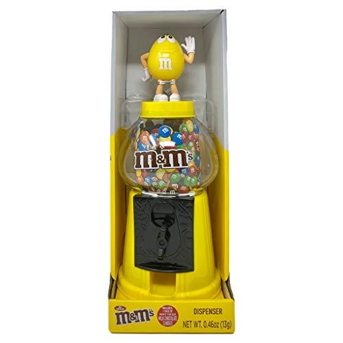 M & M - Dispensador de caramelos para todos los amantes de los caramelos, color amarillo