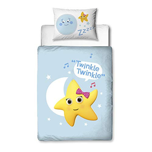 Little Baby Bum Official Cot Bed Duvet Cover | Twinkle Twinkle Little Star Design | Children's Kids Bedding Set & Pillowcase