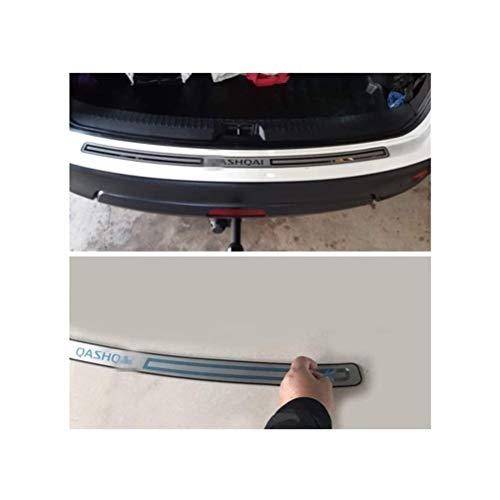 HTSM Kofferraumschutz Für Nissan Qashqai J11 2016 2017 2018 2019 Trunk Kick-Platten Trittplatte Sill Edelstahl Auto Nachhut Stoßschutz-Trim-Abdeckung