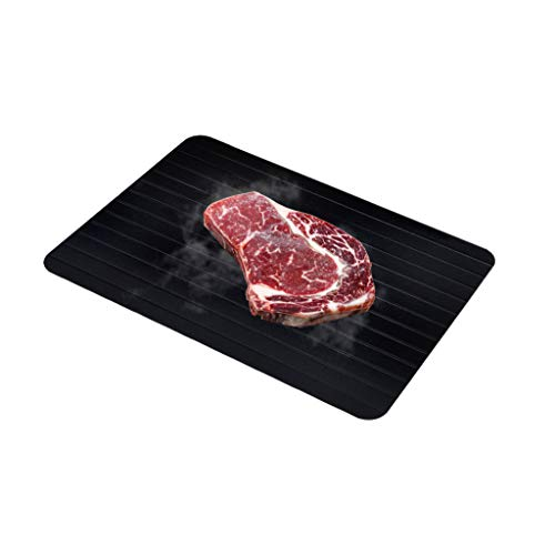 wkwk Tablett auftauen,Auftauplatten,Auftauen Tablett,Schnell auftauende Platte,geeignet zum schnellen Enteisen von Steak,Meeresfrüchten,Fisch und Tiefkühlkost (EIN Stück)