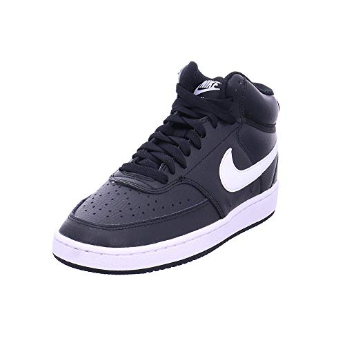 Nike Damen Court Vision Mid Sneaker, Black/White, 42.5 EU