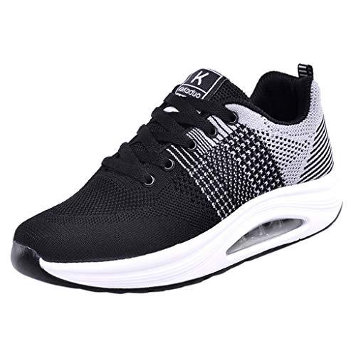 Vovotrade Gymschoenen voor dames, hardloopschoenen, sportschoenen met luchtkussen, straatloopschoenen, ademend, soft-bottom