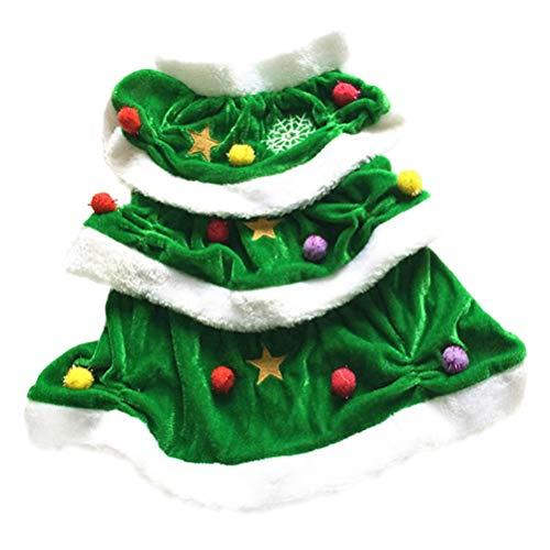 Balacoo - Disfraz de árbol de Navidad para Mascotas, para Perro, Navidad, Disfraz, Cosplay, Ropa, Abrigos, Ropa...