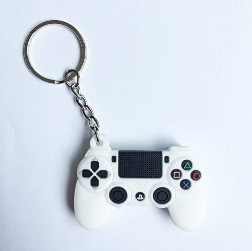 Llavero de mando de juego PS4, llavero mini Gamepad, llavero de moda para coche, bonito colgante para consola de juegos, de goma suave, para hombres y...