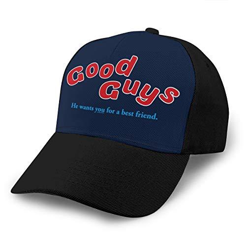 Gorra de béisbol Good Guys Packaging Chucky Dad, ajustable, transpirable, para hombres y mujeres, gorra de camionero, color negro