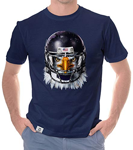 shirtdepartment - Herren Sport Fan-Outfit - Football Eagle - T-Shirt und Hoodie dunkelblau-T-Shirt XXXL