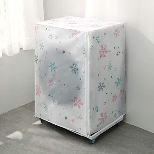 Beste kwaliteit – Wasmachine-hoezen – huiswashing machine opbergorganizer stofhoezen met deksel waterdichte beschermlaag voor het organiseren van accessoires – van Rocco – 1 pc Snowflake - 62 x 56 x 83 cm