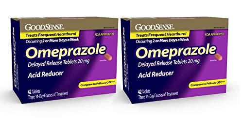 GoodSense Omeprazole Delayed Release, Acid Reducer Tablets 20 mg, 42 Count (2)