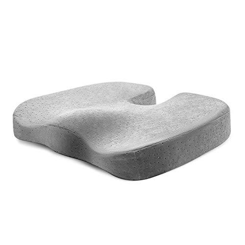 VIVOCFan fluweel Coccyx zitkussen, comfortabele ondersteunende orthopedische Memory Foam Tailbone pijn zitkussens, voor bureaustoel vliegtuig zitkussen