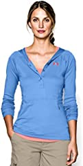 Under Armour Camiseta de Manga Larga Color Azul para Mujer