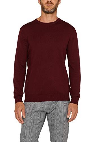 ESPRIT Herren 996EE2I900 Pullover, Dark Red (610), 02/19, L