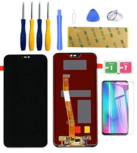 LWMTT Pantalla Tàctil digitalizador LCD Compatible para Huawei P20 Lite Negro, Conjunto Completo Recambio Herramientas para la Reparación,Adhesivo 3M y Vidrio Protector
