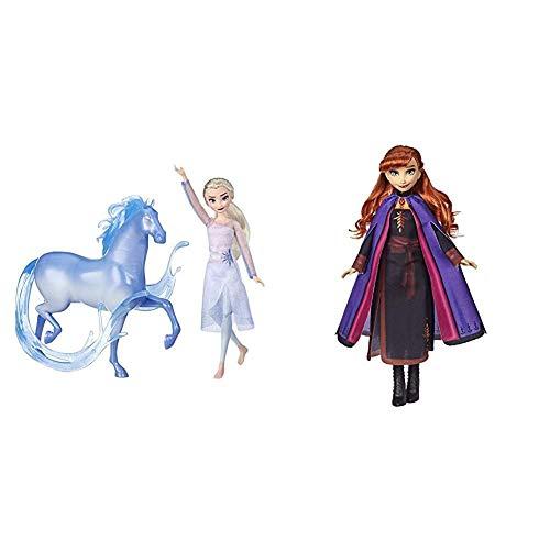Disney Die Eiskönigin ELSA Puppe und Nokk Figur, inspiriert durch den Film Die Eiskönigin 2 & II Anna Puppe mit langem rotem Haar und Outfit E6710ES0