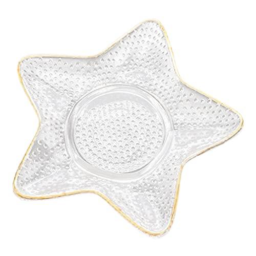 BESTonZON de Anillo en Forma de Estrella de Caramelo de Almacenamiento de Joyas de Chuchería de Cristal de Aperitivo para Fiesta Náutica de Hotel en Casa