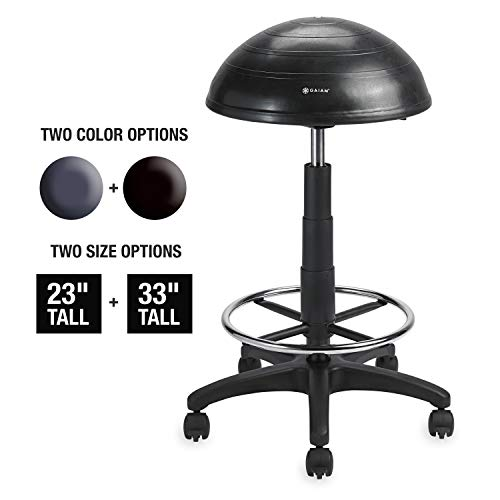 The Gaiam Adjustable Balance Ball Stool