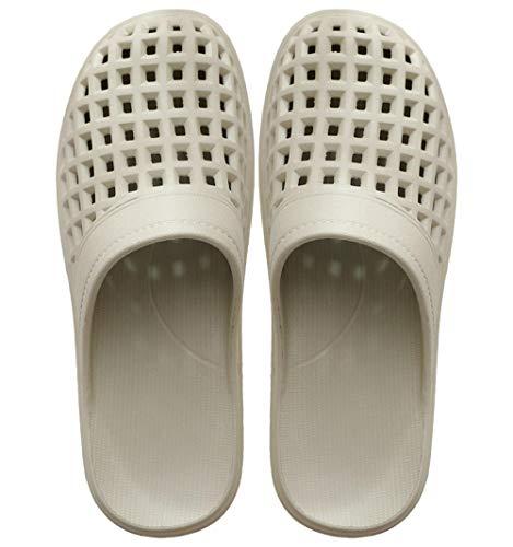 TDYSDYN Zapatillas de Masaje Hombres,Sandalias y Zapatillas de baño de Playa con Agujero, Zapatillas de plástico Antideslizantes de Fondo Suave-Caqui_42-43