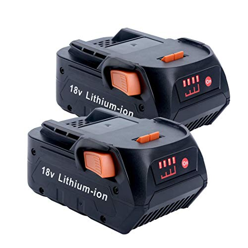 2Pack 6.0Ah 18Volt Replacement Lithium Battery for RIDGID 18V R840087 AC840089 AC840087P R840086 AC840085 R840083