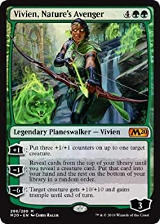 Magic: The Gathering - Vivien, Nature's Avenger - Foil Planeswalker Deck Exclusive - Core Set 2020