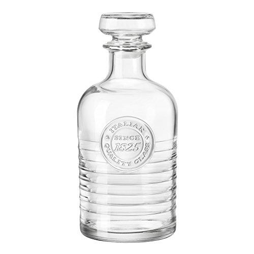 Bormioli Rocco 140623 Officina 1825 karaf met stippen, 1000 ml, glas, transparant, 1 stuk