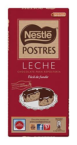NESTLÉ POSTRES Chocolate con Leche para fundir - Tableta de chocolate para repostería 170g