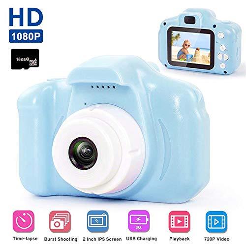 Baiwka HD cámara Digital para niños, a Prueba de Golpes, 2.0 Pulgadas, Mini videocámara para niños, 8 MP HD para niños (Tarjeta de Memoria de 16 GB incluida)