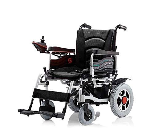Haoguo Elektrische rolstoel, lichtgewicht en draagbaar, voor binnen, inklapbaar, opvouwbaar, licht, geschikt voor ouderen, handicatie, automatische, intelligente scooter, zwart