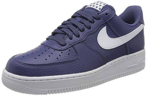 Nike AIR Force 1 '07, Baskets Homme, Bleu (Obsidian/Obsidian-White), 46 EU
