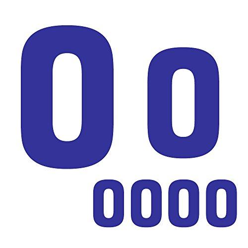 RECHERE 6-teiliges Kinder-Trikot, feste Zahl 0, Vinyl, Wärmeübertragung, zum Aufbügeln für Fußball, Basketball, Baseball, Sport, T-Shirt blau