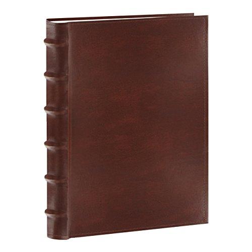 Pioneer Photo Albums Sewn Bonded Leather Bookbound 300 Pkt 4x6 Bi-Directional Photo Album, Brown