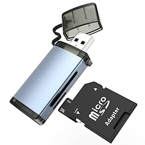 SD-Kartenleser USB 3.0, SD/Micro SD Speicherkartenleser, 5Gbps High-Speed, SD/TF-Speicherkartenleser Kombinierter Adapter SD, SDHC, SDXC, MMC Micro, RSMMC, Micro SD, Micro SDHC, Micro SDXC