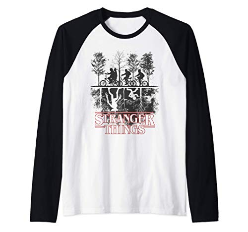 Stranger Things The Upside Down Logo Camiseta Manga Raglan