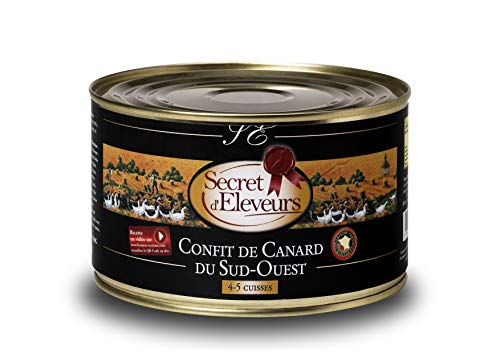 Secret dEleveurs Confit de Canard du Sud Ouest 4/5 Cuisses 1,25 kg