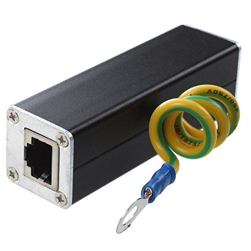 Cuasting RJ45 Plug Ethernet Network Surge Protector Thunder Arrester 100MHz
